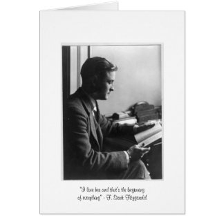 "Fitzgerald ""That's the beginning"" Greeting Card"