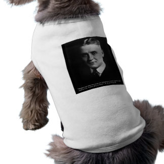 "Fitzgerald ""Two Souls"" & Quote Tees & Gifts Sleeveless Dog Shirt"