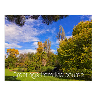 Fitzroy Gardens in East Melbourne Australia Postcard