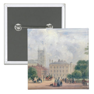 Fitzroy Square London oil on panel Pinback Button