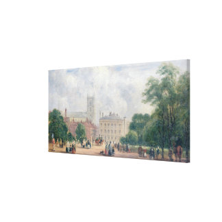 Fitzroy Square, London (oil on panel) Canvas Print