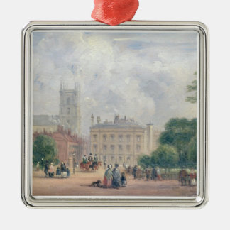Fitzroy Square, London (oil on panel) Christmas Ornaments