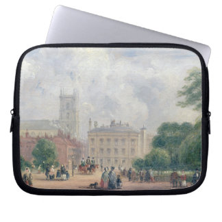 Fitzroy Square, London (oil on panel) Laptop Sleeves