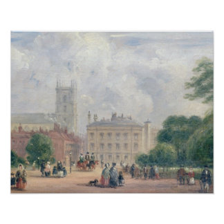Fitzroy Square, London (oil on panel) Poster