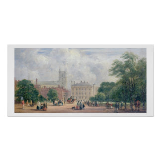 Fitzroy Square London oil on panel Poster