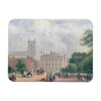 Fitzroy Square, London (oil on panel) Flexible Magnets
