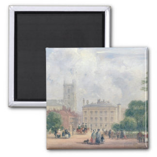 Fitzroy Square, London (oil on panel) Square Magnet