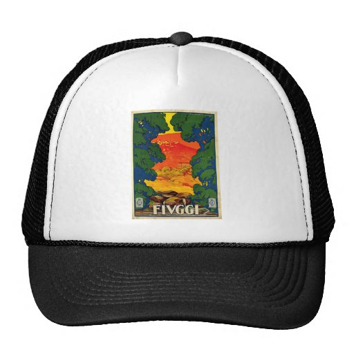 Fiuggi Italy Vintage Travel Advertisement Art Hats