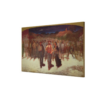 Fiumana (The Human Tide) 1895-96 (oil on canvas) Canvas Print