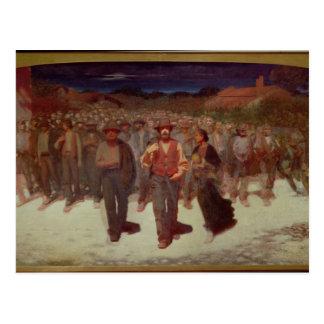 Fiumana (The Human Tide) 1895-96 (oil on canvas) Postcard