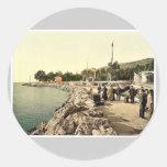 Fiume, the Mole, (i.e, Molo), Croatia, Austro-Hung Round Stickers