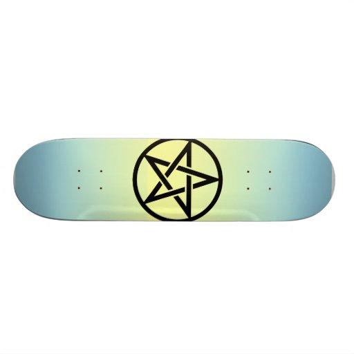 Five 芒 stars skateboard decks