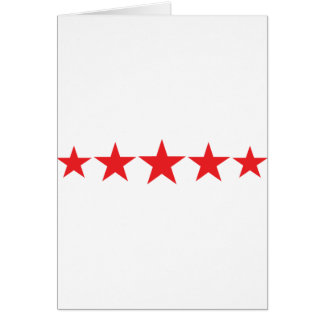 five 5 red stars deluxe greeting cards