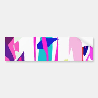 Five Abstracts Bumper Sticker
