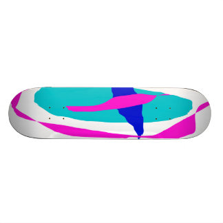 Five Abstracts Custom Skate Board