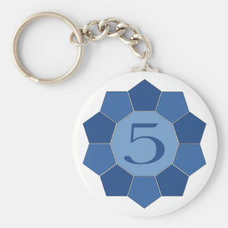 Five Alive Basic Round Button Key Ring