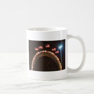 Five American USA Flags Coffee Mugs