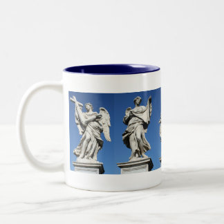 five angels Two-Tone coffee mug