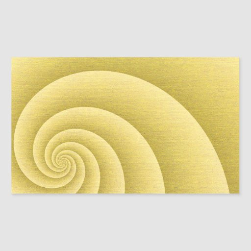 Five Arms Spiral in Gold brushed metal texture