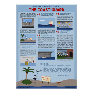 """Five Awesome Facts About the Coast Guard"" Poster"
