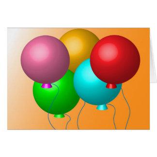 Five Birthday Balloons Card