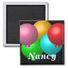 Five Birthday Balloons Magnet