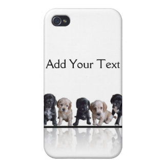 Five Black and Tan Cocker Spaniel Puppies iPhone 4 Cases