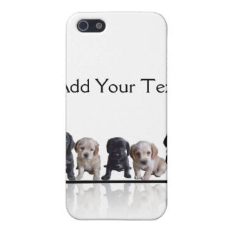 Five Black and Tan Cocker Spaniel Puppies iPhone 5/5S Cases