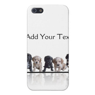 Five Black and Tan Cocker Spaniel Puppies Covers For iPhone 5