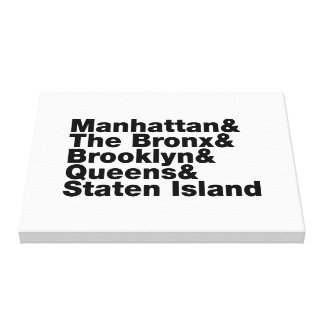 Five Boroughs Gallery Wrapped Canvas