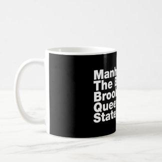 Five Boroughs ~ New York City Basic White Mug
