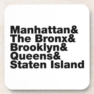Five Boroughs ~ New York City Beverage Coaster