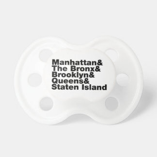 Five Boroughs ~ New York City Baby Pacifier