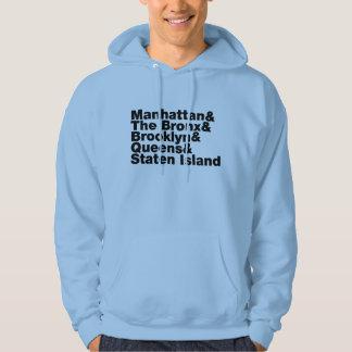 Five Boroughs ~ New York City Hooded Sweatshirts