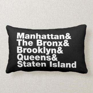 Five Boroughs ~ New York City Lumbar Cushion