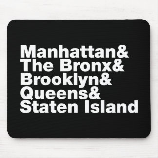 Five Boroughs ~ New York City Mouse Pad