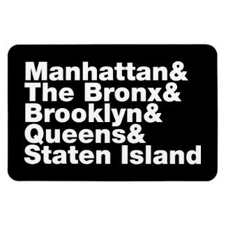 Five Boroughs ~ New York City Rectangular Photo Magnet