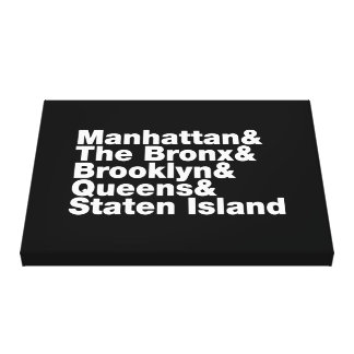 Five Boroughs ~ New York City Stretched Canvas Print