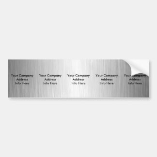 Five Brushed Metal Look Bumper Stickers