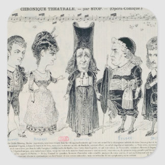 Five caricatures of the cast of a French Sticker