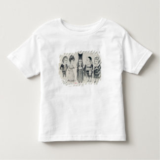 Five caricatures of the cast of a French Toddler T-Shirt