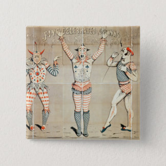 Five Celebrated Clowns Attached to Sands 15 Cm Square Badge