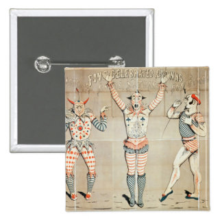Five Celebrated Clowns Attached to Sands Pinback Button