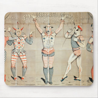 Five Celebrated Clowns Attached to Sands Mouse Pad
