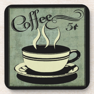 Five Cent Cup of Coffee Drink Coaster