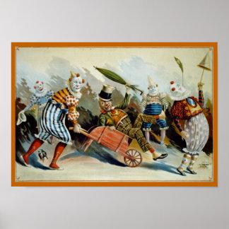 Five Clowns Poster
