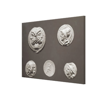 Five coins gallery wrap canvas