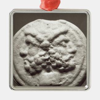 Five coins depicting Janus, Jupiter Christmas Ornament