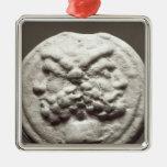Five coins depicting Janus, Jupiter Christmas Ornaments