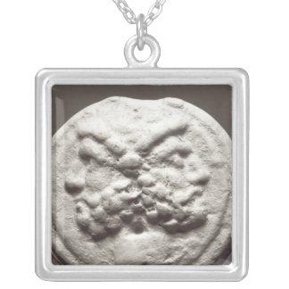 Five coins depicting Janus, Jupiter Silver Plated Necklace